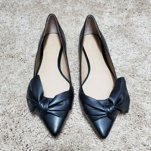 Ann Taylor Black Leather Flats